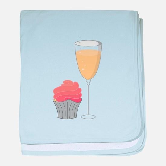 Cupcake and Margarita baby blanket