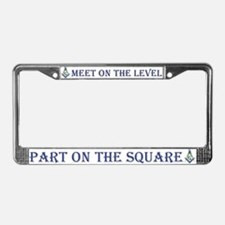 Masonic On the Level License Plate Frame