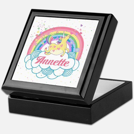 Unicorn and Rainbow Personalized Keepsake Box