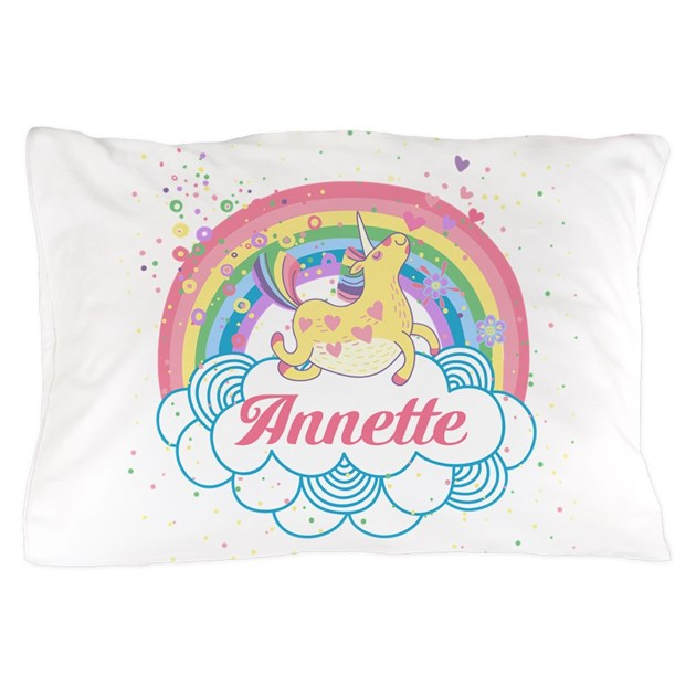Unicorn and Rainbow Personalized Pillow Case by ...