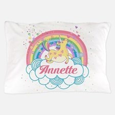 Unicorn and Rainbow Personalized Pillow Case