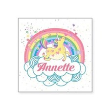 Unicorn and Rainbow Personalized Sticker