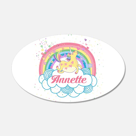 Unicorn and Rainbow Personalized Wall Decal