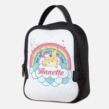 Unicorn and Rainbow Personalized Neoprene Lunch Ba