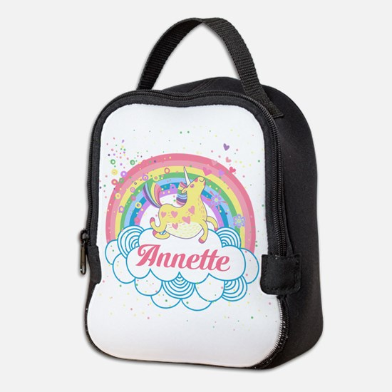 Unicorn and Rainbow Personalized Neoprene Lunch Ba