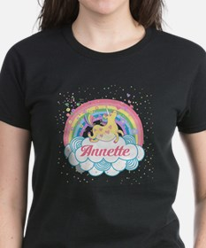 Unicorn and Rainbow Personalized T-Shirt