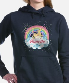 Unicorn and Rainbow Personalized Women's Hooded Sw