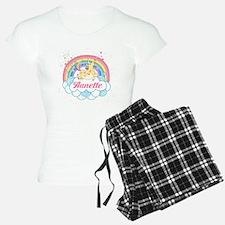 Unicorn and Rainbow Personalized Pajamas