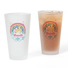 Unicorn and Rainbow Personalized Drinking Glass