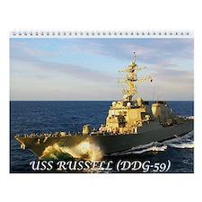 USS RUSSELL Wall Calendar