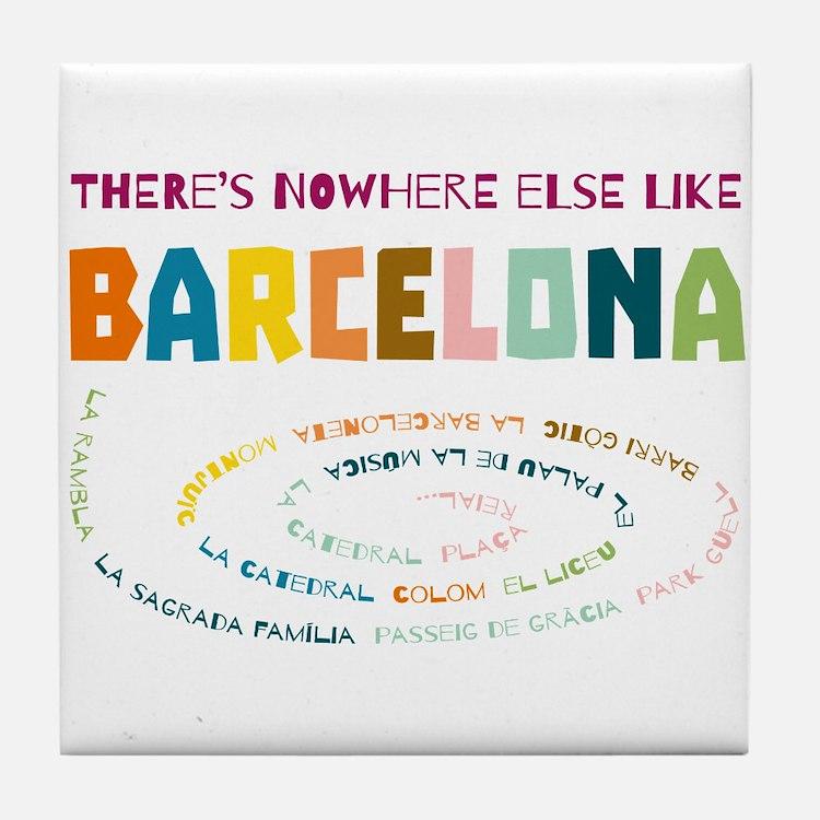 There's nowhere else like Barcelona Tile Coaster