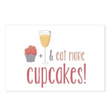 Eat more cupcakes Postcards (Package of 8)