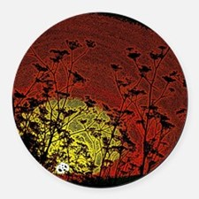 Australian Sun Round Car Magnet