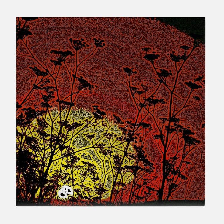 Australian Sun Tile Coaster