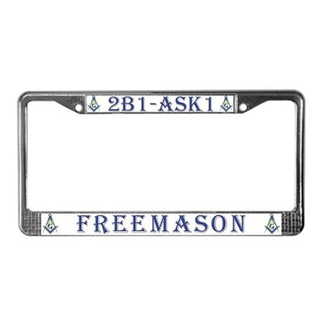 Masonic 2B1 Freemason License Plate Frame
