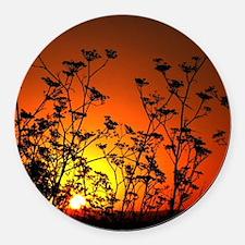 Australian Sunset Round Car Magnet