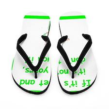 Funny Ccu nurse Flip Flops