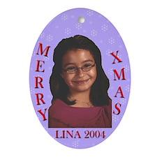 Lina's Oval Ornament