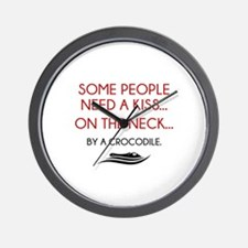 Some People Need A Kiss Wall Clock