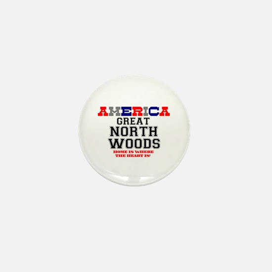AMERICA REGIONS - GREAT NORTH WOODS Z Mini Button