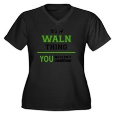 Cute Waln Women's Plus Size V-Neck Dark T-Shirt