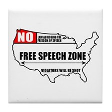 Free Speech Zone Tile Coaster