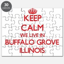 Keep calm we live in Buffalo Grove Illinois Puzzle