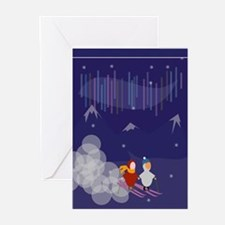 Emille and Ema Ski Greeting Cards (Pk of 10)