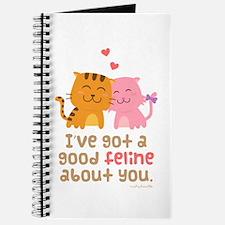 Cute Feline Cartoon Cats in Love Pun Humor Journal