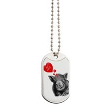 valentines lucy the wonder pig Dog Tags