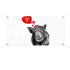 valentines lucy the wonder pig Banner