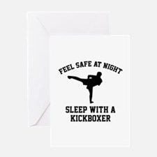 Sleep With A Kickboxer Greeting Card