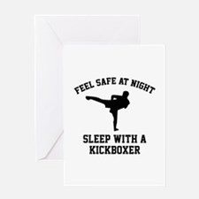 Sleep With A Kickboxer Greeting Card