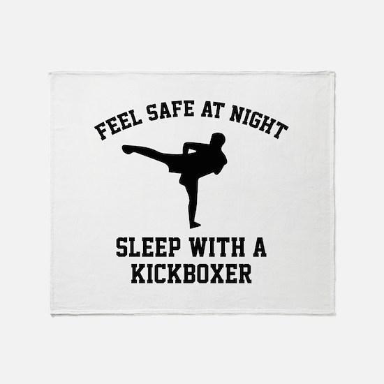 Sleep With A Kickboxer Stadium Blanket