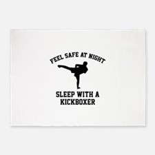 Sleep With A Kickboxer 5'x7'Area Rug