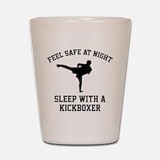 Sleep With A Kickboxer Shot Glass