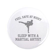 "Sleep With A Martial Artist 3.5"" Button"