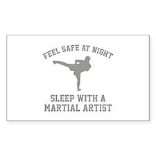 Sleep With A Martial Artist Decal