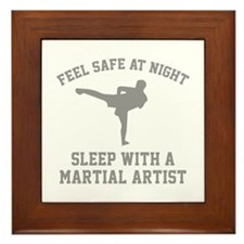 Sleep With A Martial Artist Framed Tile