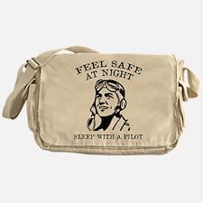 Sleep With A Pilot Messenger Bag