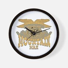mountain man collectibles Wall Clock
