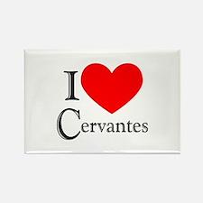 I Love Cervantes Rectangle Magnet