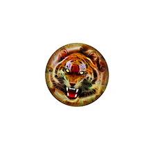 Cosmic Fire Tiger Roar Mini Button