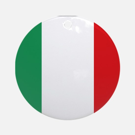 Flag of Italy Ornament (Round)