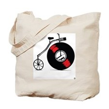 Record Bike Tote Bag