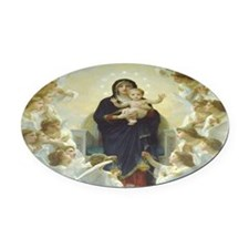 Mother Mary Oval Car Magnet