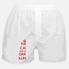 Keep calm we live in Darien Illinois Boxer Shorts