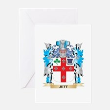 Jett Coat of Arms - Family Crest Greeting Cards