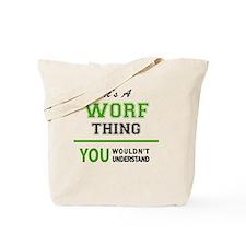 Cute Worf Tote Bag