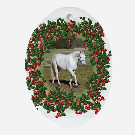 Cute Beautiful horses Oval Ornament